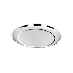 Polished Stainless Steel Dinner Plate