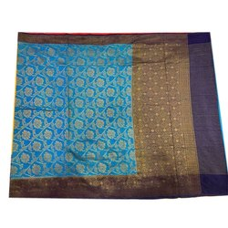 Zari Work Festive Wear Ladies Kora Georgette Patola Saree