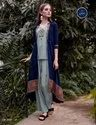 Genesis-Lyami Fancy 3 Pcs Attire With Shrug And Hand Work On Rayon Kurtis