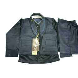 Kids Black Koti Suit
