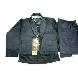 Kids Black Koti Suit