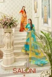 Shangrila Saloni Linen Printed Saree Catalog Collection At Textile Mall