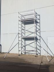 Aluminium Single Width Mobile Scaffolding With Stair