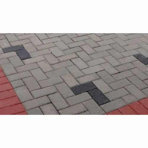 Cement Rectangular Brick Paver, for Landscaping, Thickness: 60mm, 80 Mm And 100 Mm