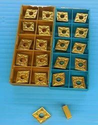 Golden Sandvik Carbide Inserts R 390 1025 Grade, Thickness: 2.3 mm