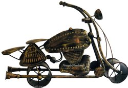 Decorative Iron Motorcycle Showpiece