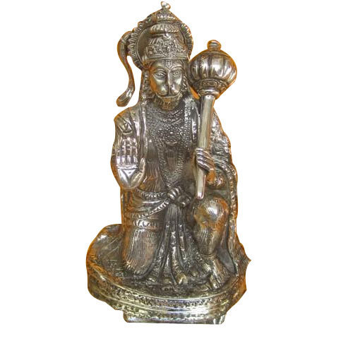 Silver Hanuman Statue