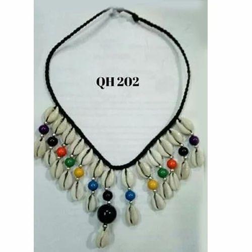 d44f7be674e Multicolor Cowrie Shell Pendant Necklace