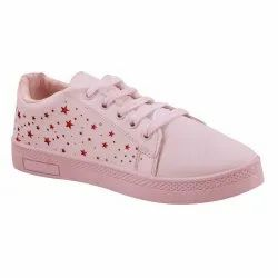 Happy-Lite Women Pink Ladies Casual Shoes, Size: 4-8