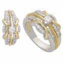 Daily Wear Yellow Gold Diamond Ring