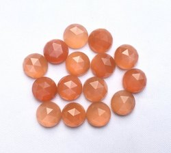 Peach Moonstone Rose Cut