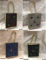 Jute Butterfly Tote Bag