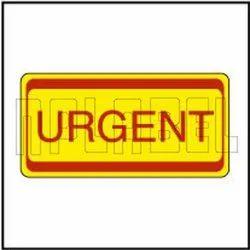 Rectangular 820452 Urgent - Office Stationery Sticker