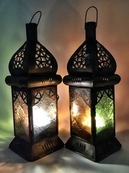 Candle Clear Coloured Lantern