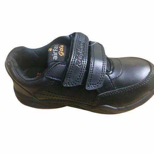 School Wear Airfax Gola Black School Shoes, Size: 8-10, Packaging Type