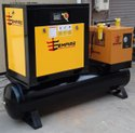 20 H.P Tank Mounted Screw Air Compressor