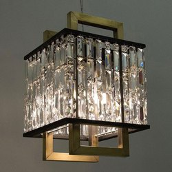 Square Roof Mount Crystal Chandelier