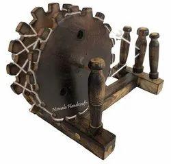 Wooden Gandhi Charkha Decorative Showpiece