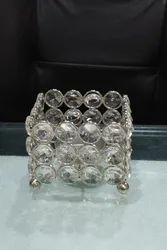 Royal De Wajidsons Square Crystal Candle Holder Tea Light Votive