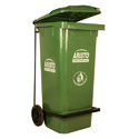 120 Liter Wheeled Paddle Operated Bin