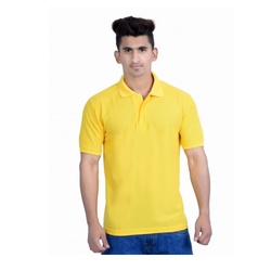 Men's Collar Yellow T-Shirt