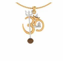 08372c2419c4d Om Design Rudraksha Studded Pendant With Chain For Men 483849