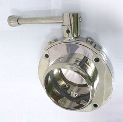 SS Sandwich Butterfly Valve With Neck on One Side