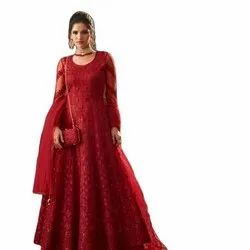 Embroidery Gown With Handwork
