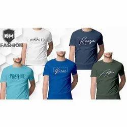 Mens Half Sleeve T Shirt fourway lycra fabric