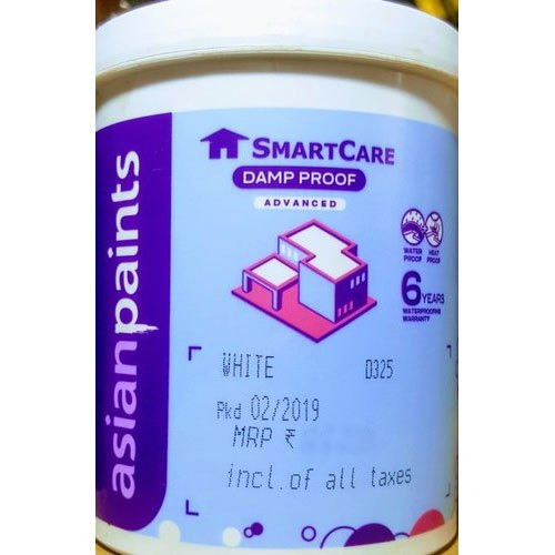 Asian Paints Water Based Paint Smart Care Damp Proof Paint Packaging Size 4 L Packaging Type Can Rs 930 4 Litre Id 21328458891