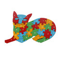 Alphabet And Number Wooden Jigsaw Puzzle - Cat (1tng239)