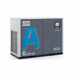 Atlas Copco 20 HP Oil-Free Water Injected Screw Compressor, Maximum Flow Rate (CFM): 21-50 Cfm