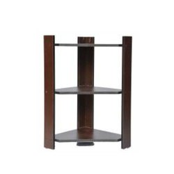 Wood Open Storage Wooden Corner Stand, For Home, Size: H 30x W 16'' X L16