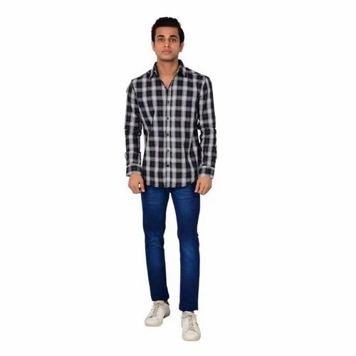 Cotton Regular Fit Casual Check Shirt
