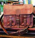 Vintage Leather Messenger Bag, Laptop Bag, Briefcase, Office Bag