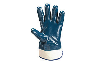Blue Rubber Maple Tm Plus Hand Gloves, Length: 12 Inch