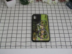 Plastic Samsung UV Dotted Print Mobile Back Cover