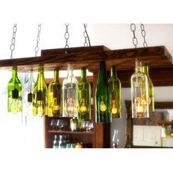 Modern Wine Bottles Hanging Chandeliers