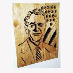 Public Figure Wooden Carving PF5