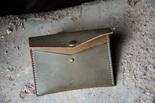 Brown Moustache Business Card Holder