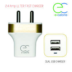 White Wall Charger 2.4 Amp With Data Cable