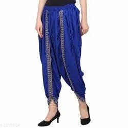 Ladies Blue Rayon Dhoti Pant