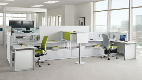 Plywood Pre Laminated Particle Board Modular Workstation