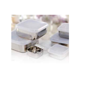 Stainless Steel Square Storage Container W/ Plastic Lid