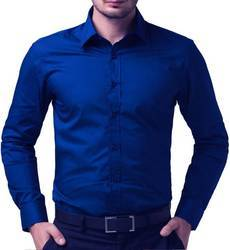 Blue Mens Formal Shirt