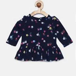 Cotton Casual Girls Printed Tops, Packaging Type: Packet