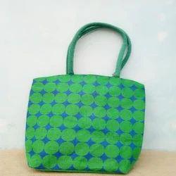 Green Jute Handbag
