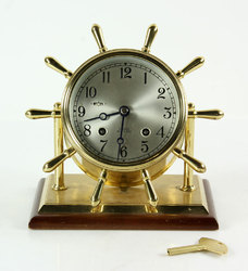 Brass Chelsea Ships Bell Clock