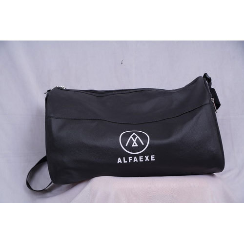 961b249fb17 ALFAEXE Black Stylish Gym Bag