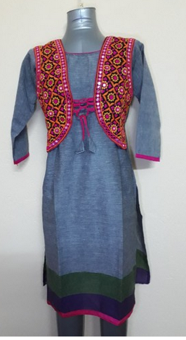 Large Khadi Cotton Jacket Kurti